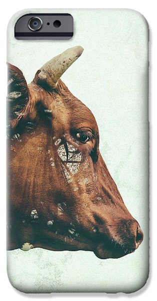 Cow iPhone 6s Case - Portrait Of Bess by Katherine Smit