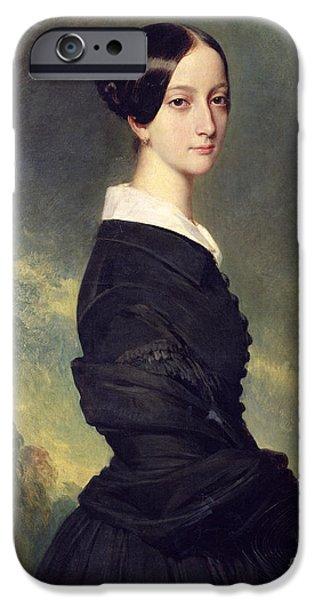 Portrait Of Francisca Caroline De Braganca IPhone Case by Franz Xaver Winterhalter