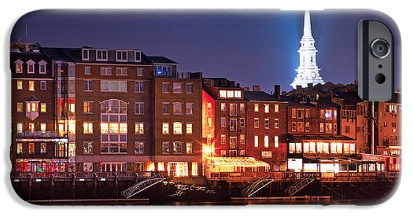 New England Coast iPhone 6s Case - Portsmouth Waterfront At Night by Eric Gendron