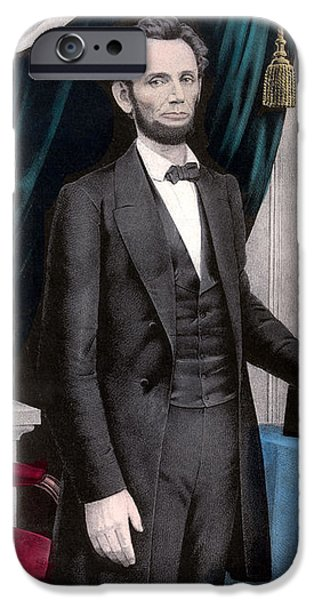 President Abraham Lincoln In Color IPhone 6s Case by War Is Hell Store