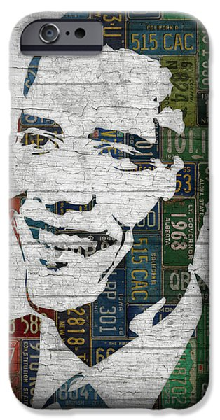President Barack Obama Portrait United States License Plates Edition Two IPhone 6s Case by Design Turnpike