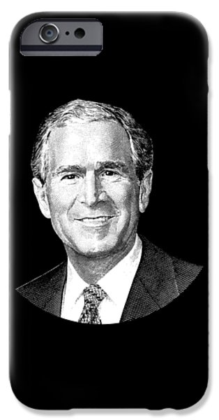 President George W. Bush Graphic IPhone 6s Case by War Is Hell Store