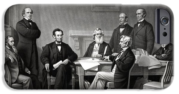 Abraham Lincoln iPhone 6s Case - President Lincoln And His Cabinet by War Is Hell Store