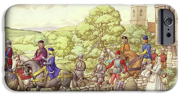 Prince Edward Riding From Ludlow To London IPhone 6s Case by Pat Nicolle