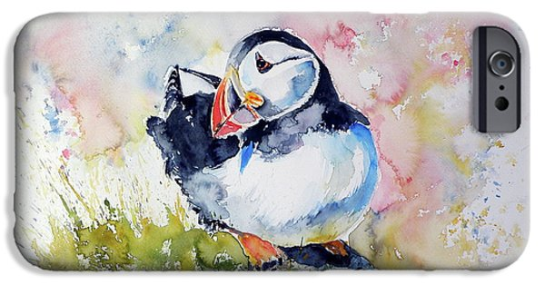 Puffin iPhone 6s Case - Puffin On Stone by Kovacs Anna Brigitta