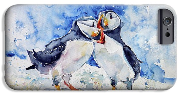 Puffin iPhone 6s Case - Puffins by Kovacs Anna Brigitta
