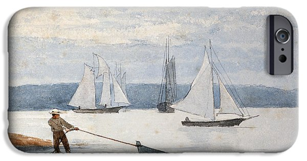 Boat iPhone 6s Case - Pulling The Dory by Winslow Homer