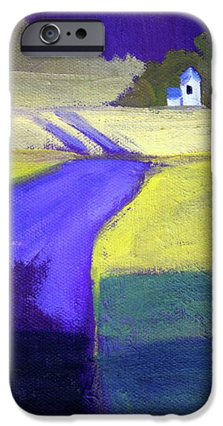 IPhone 6s Case featuring the painting Purple Road Abstract Landscape Painting by Nancy Merkle