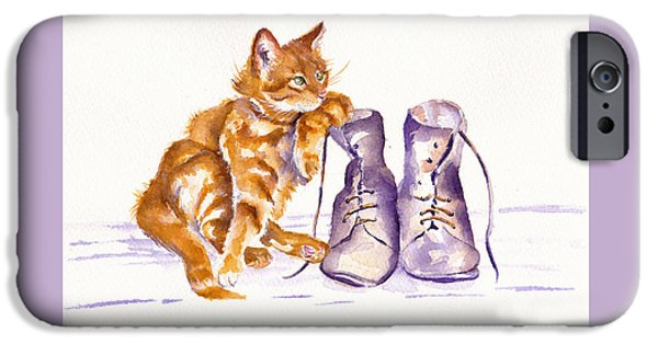 Cat iPhone 6s Case - Puss 'n Boots by Debra Hall