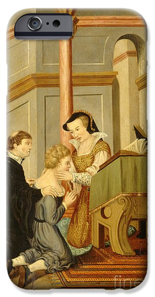 Queen Mary I Curing Subject With Royal IPhone 6s Case by Wellcome Images