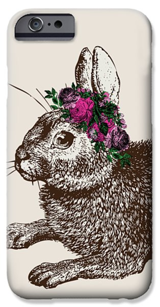 Rabbit And Roses IPhone 6s Case by Eclectic at HeART