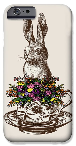 Rabbit In A Teacup IPhone 6s Case by Eclectic at HeART