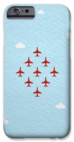 Hawk iPhone 6s Case - Raf Red Arrows In Formation by Samuel Whitton