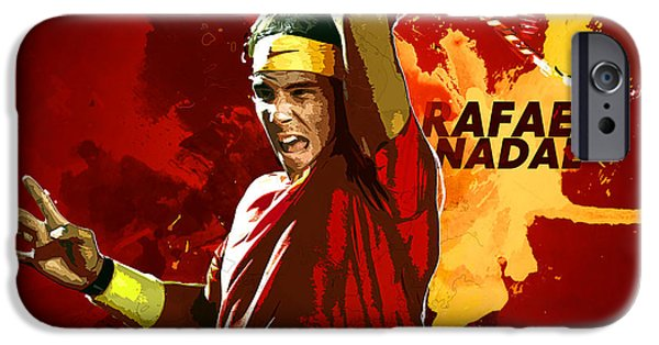 Serena Williams iPhone 6s Case - Rafael Nadal by Semih Yurdabak