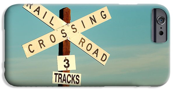 Train iPhone 6s Case - Railroad Crossing by Todd Klassy