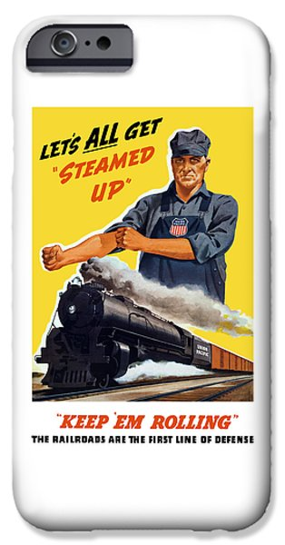 Train iPhone 6s Case - Railroads Are The First Line Of Defense by War Is Hell Store