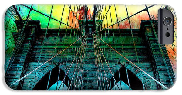 Brooklyn Bridge iPhone 6s Case - Rainbow Ceiling  by Az Jackson