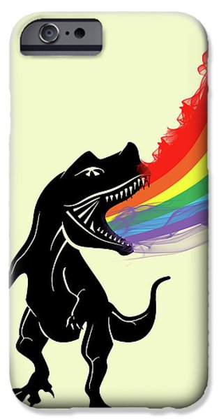 Rainbow Dinosaur IPhone 6s Case by Mark Ashkenazi