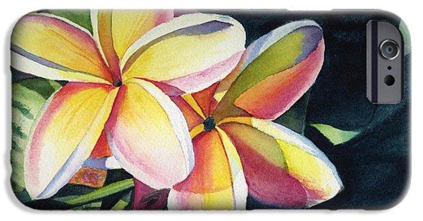 Flowers iPhone 6s Case - Rainbow Plumeria by Marionette Taboniar