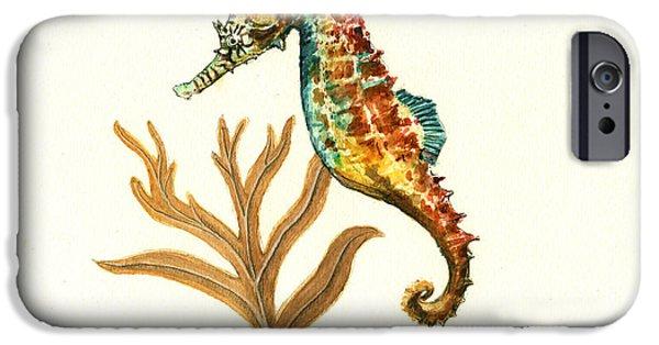 Rainbow Seahorse IPhone 6s Case by Juan Bosco