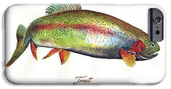 Rainbow Trout IPhone 6s Case by Juan Bosco