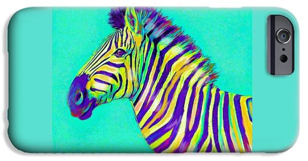 Rainbow Zebra 2013 IPhone 6s Case by Jane Schnetlage