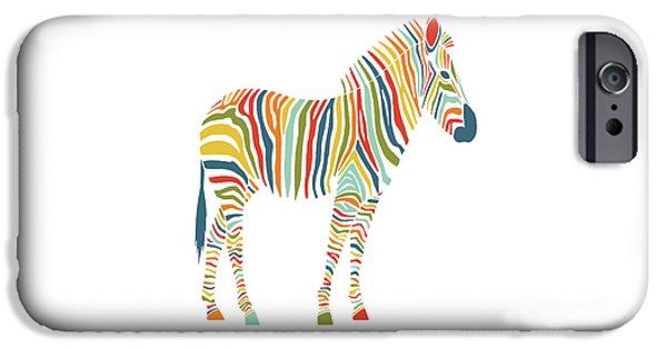 Rainbow Zebra IPhone 6s Case by Nicole Wilson
