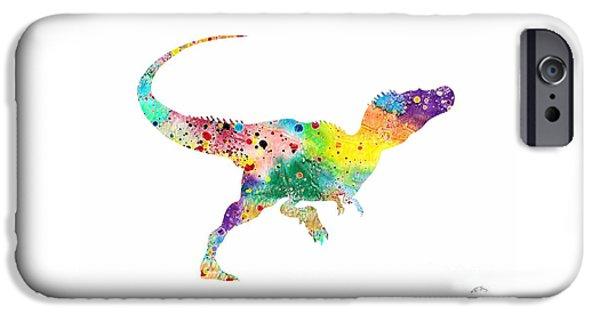 Raptor 2 Dinosaur Watercolor IPhone 6s Case by Svetla Tancheva
