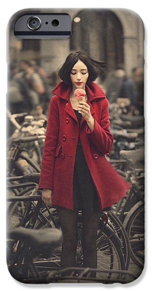 Bicycle iPhone 6s Case - raspberry sorbet in Amsterdam by Anka Zhuravleva