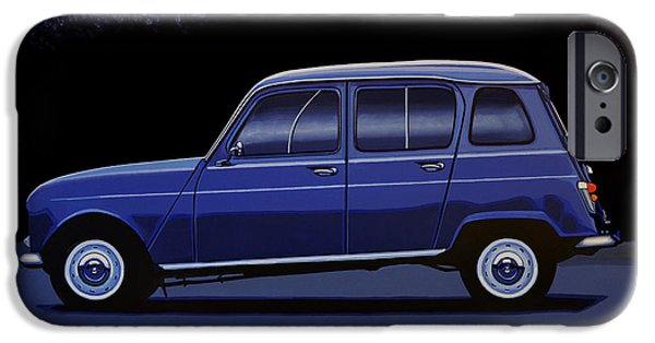 Truck iPhone 6s Case - Renault 4 1961 Painting by Paul Meijering