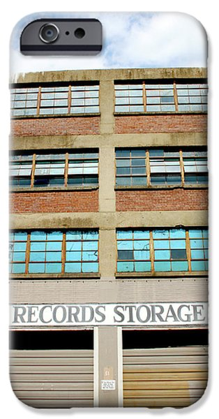 Office Buildings iPhone 6s Case - Records Storage- Nashville Photography By Linda Woods by Linda Woods