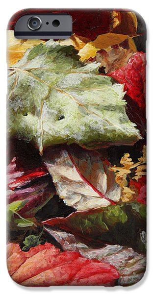 Contemporary Realism iPhone 6s Case - Red Autumn - Wasilla Leaves by Karen Whitworth
