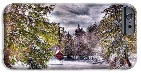 IPhone 6s Case featuring the photograph Red Boathouse After The Storm by David Patterson