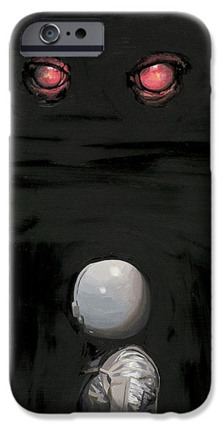 IPhone 6s Case featuring the painting Red Eyes by Scott Listfield