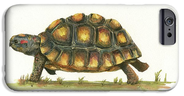 Reptiles iPhone 6s Case - Red Footed Tortoise  by Juan Bosco
