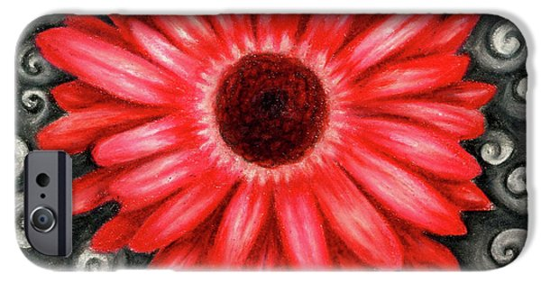 Red Gerbera Daisy Drawing IPhone 6s Case