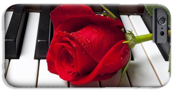 Rose iPhone 6s Case - Red Rose On Piano Keys by Garry Gay