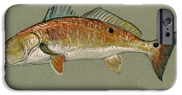Redfish Watercolor Painting IPhone 6s Case