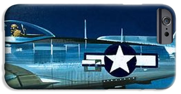 Airplane iPhone 6s Case - Republic P-47n Thunderbolt by Wilf Hardy