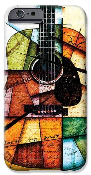 Guitar iPhone 6s Case - Resonancia En Colores by Gary Bodnar