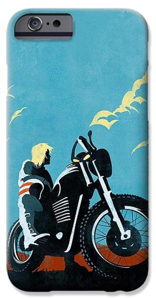 Motorcycle iPhone 6s Case - Retro Scrambler Motorbike by Sassan Filsoof