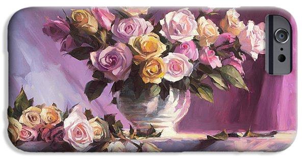 Peach iPhone 6s Case - Rhapsody Of Roses by Steve Henderson