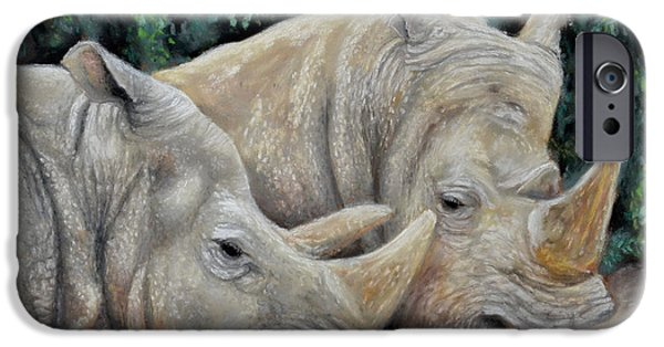 Rhinocerus iPhone 6s Case - Rhinos by Sam Davis Johnson