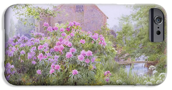 Rhododendrons By A Watermill IPhone Case by George Marks