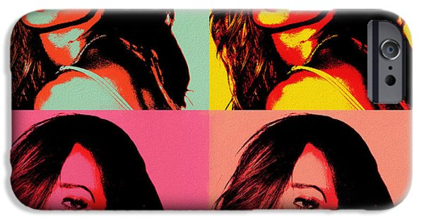 Rihanna iPhone 6s Case - Rihanna Pop Art by Dan Sproul