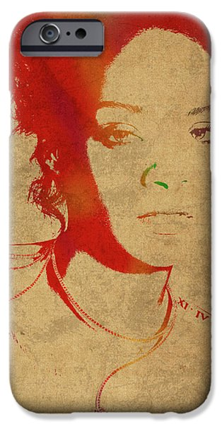Rihanna Watercolor Portrait IPhone 6s Case by Design Turnpike
