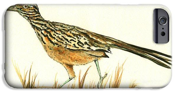 Roadrunner Bird IPhone 6s Case by Juan Bosco