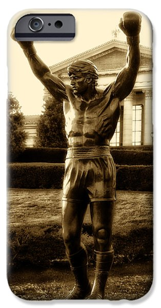 Rocky - Heart Of A Champion  IPhone Case by Bill Cannon
