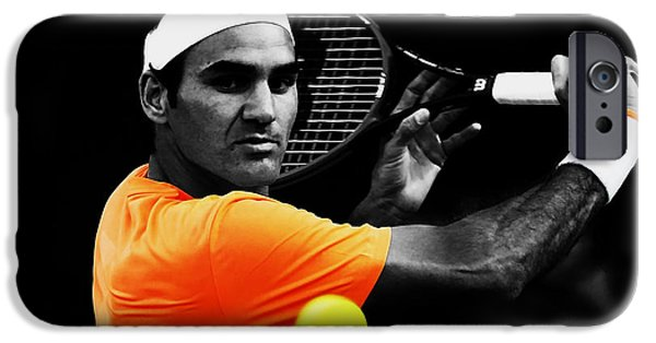 Venus Williams iPhone 6s Case - Roger Federer 4c by Brian Reaves
