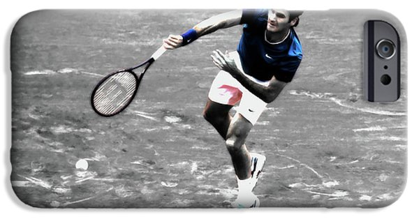 Venus Williams iPhone 6s Case - Roger Federer 4v by Brian Reaves
